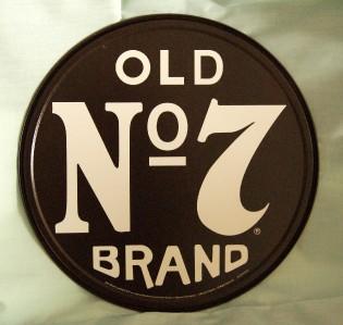 Whiskey Jack Daniels Old No 7 Brand Metal Circle Sign 11 3