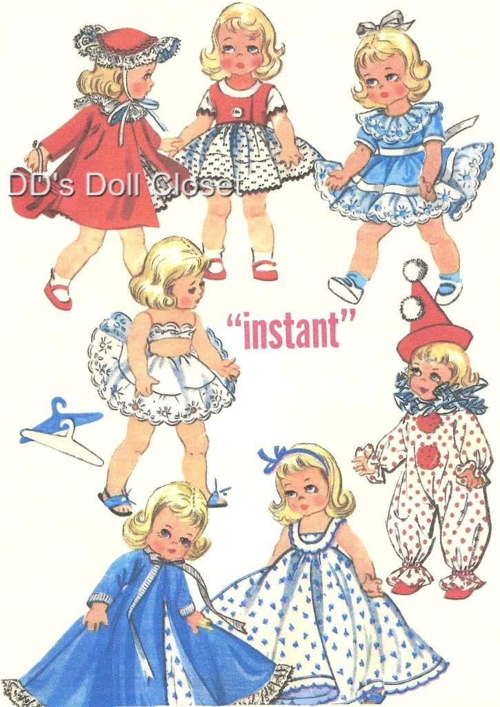 vintage doll clothes pattern 2150 8 034 ginny wendy ebay
