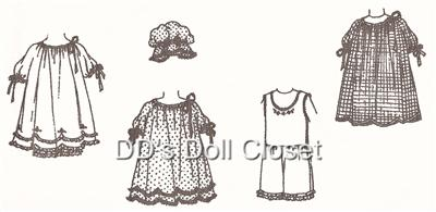 Vintage Dolls Clothes Vintage Doll Clothes Pattern
