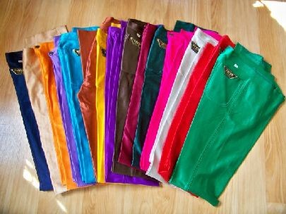 Shiny Spandex Disco Pants http://www.ebay.com/itm/VTG-spandex-DISCO-Bojeangles-SHINY-rocker-ORANGE-high-waisted-pants-Jeans-Skinny-/310350368549