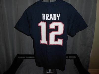 NEW IRREGULAR New England Patriots TOM BRADY  12 YOUTH Large L Reebok cd0489b24