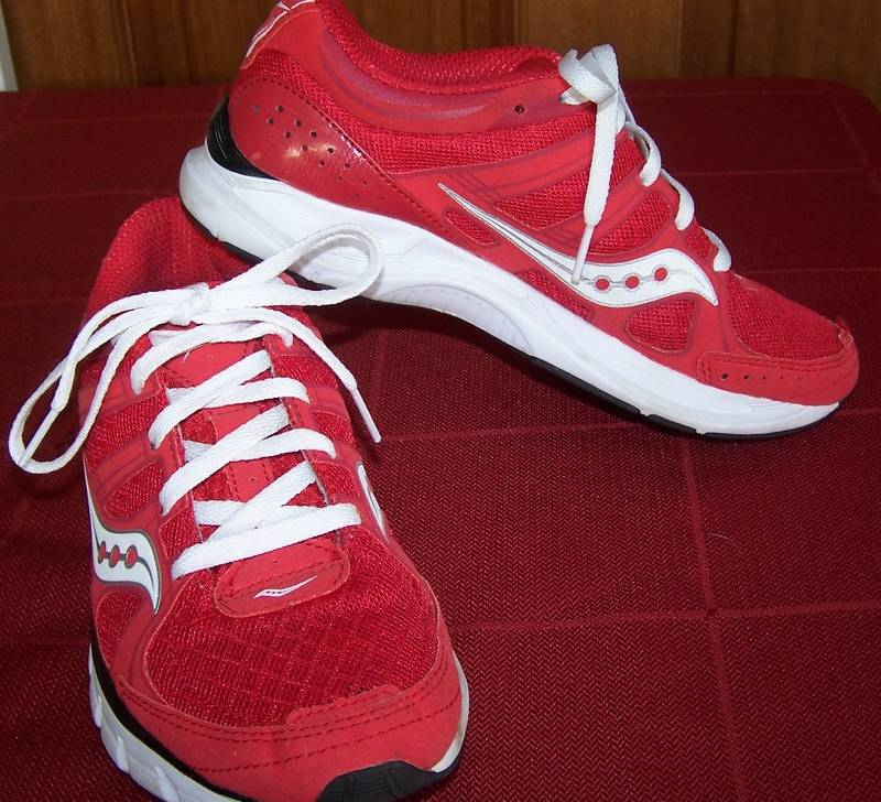 SAUCONY-GRID-CROSSFIRE-Running-Shoes-RED-Runners-LIGHTWEIGHT-Trainers-sz-7-5