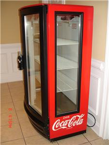 Beverage air 2 door coca cola glass display cooler ebay for 1 door retro coke cooler