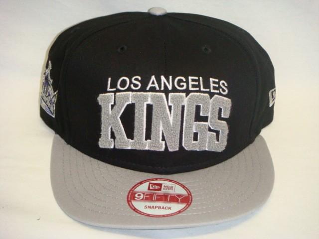 LOS-ANGELES-KINGS-LA-NEW-ERA-NCAA-SNAPBACK-HAT-CAP-CHENIELLE-BLACK-GREY-RETRO