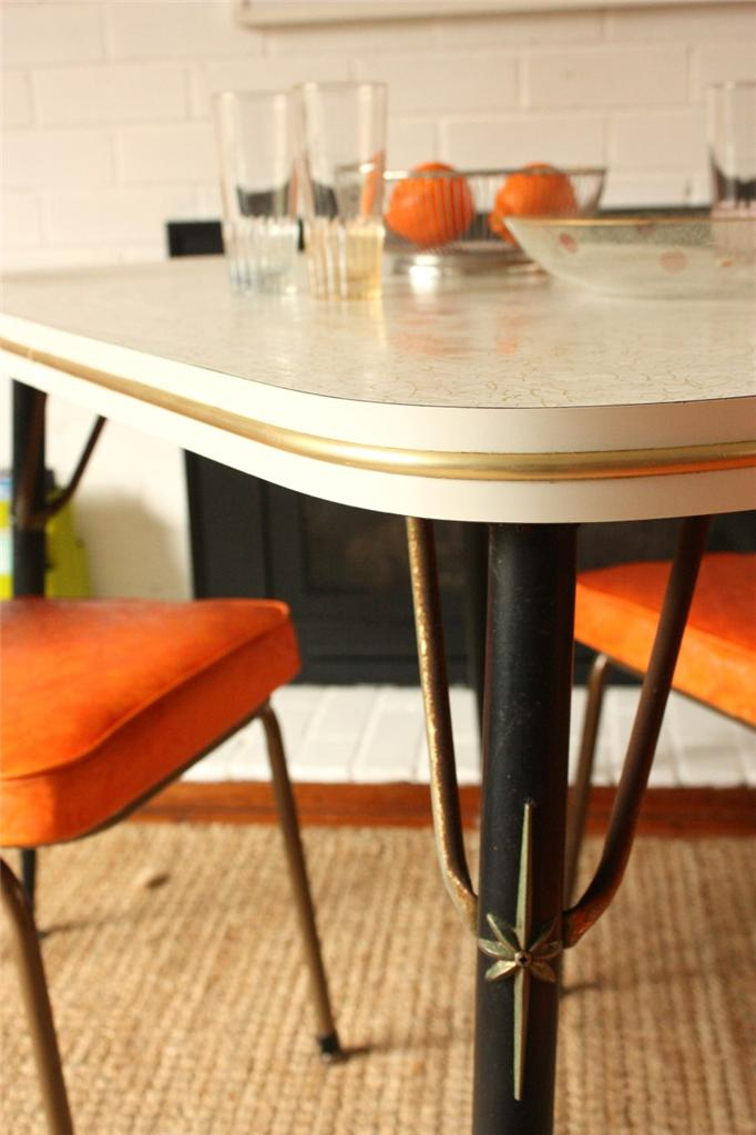1950s kitchen table vintage 1950s kitchen table and orange chairs