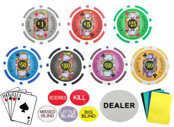 Poker chip weights