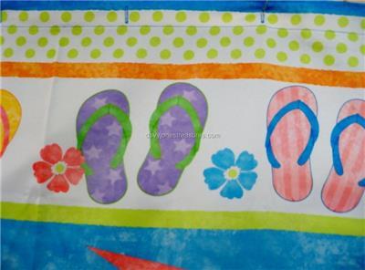 Flip Flops Fabric Shower Curtain | Bizrate