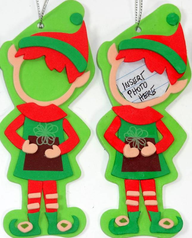 10 Photo Frames Christmas Elf Ornaments Party Favors Stocking ...