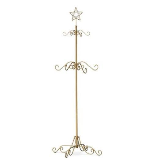 black or gold metal christmas tree stocking hanger holder
