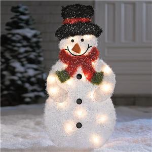 Lighted pre lit outdoor frosty snowman christmas holiday for 36 countdown to christmas snowman yard decoration