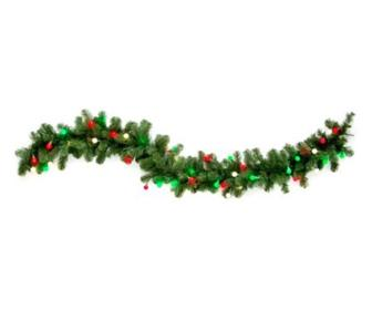 cordless outdoor pre lit wreath swag garland christmas. Black Bedroom Furniture Sets. Home Design Ideas