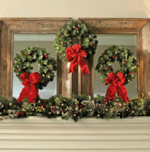 set of 3 cordless lighted pre lit decorated 16 christmas. Black Bedroom Furniture Sets. Home Design Ideas
