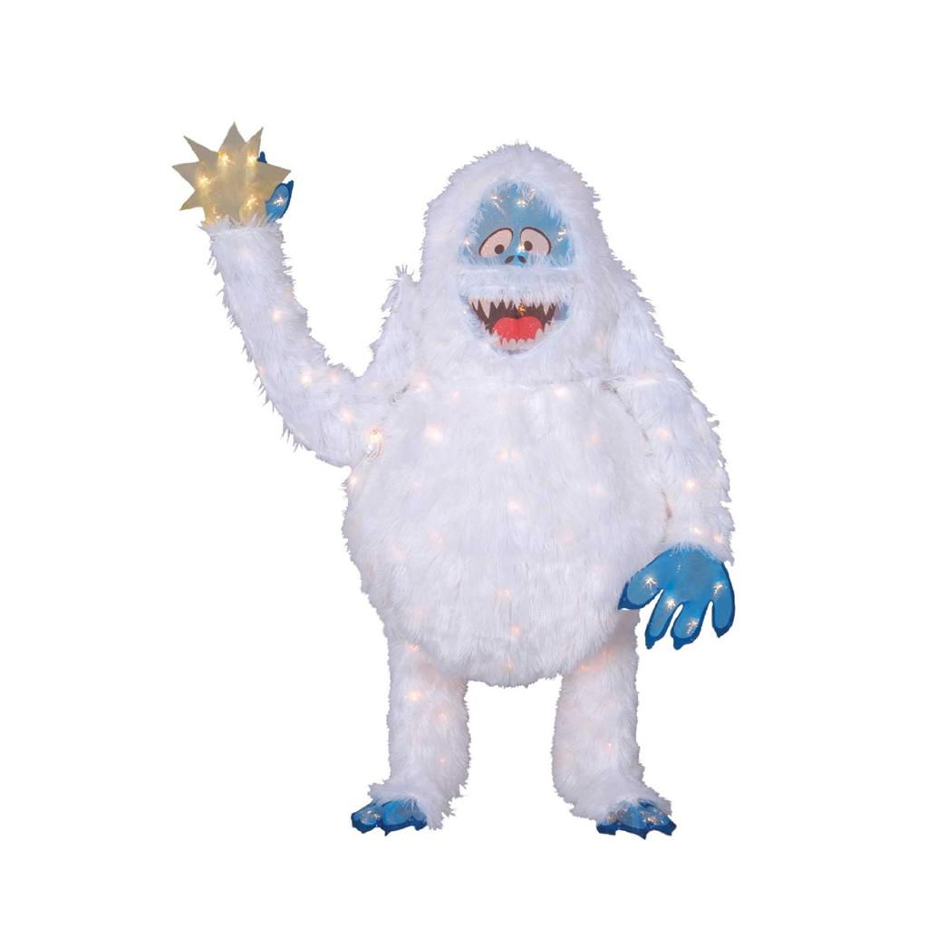Rudolph the red nosed reindeer friends tinsel outdoor for Abominable snowman holiday decoration
