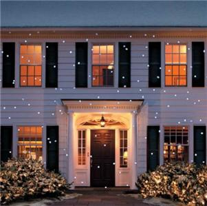Outdoor snow flurry light show christmas holiday projector - Snowflake exterior christmas lights ...