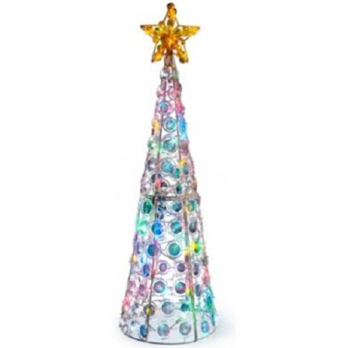Outdoor lighted pre lit cone christmas tree holiday yard for Pre lit outdoor decorations