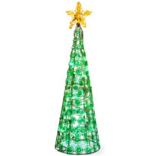 Clearance outdoor lighted cone christmas tree holiday yard for Christmas ornament sale clearance