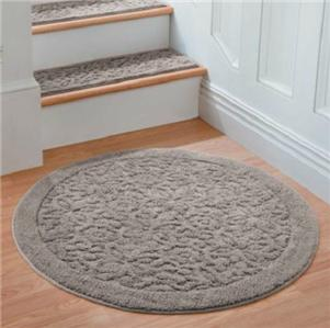 Non Slip 100 Cotton Washable Scroll 36 Round Area Rug