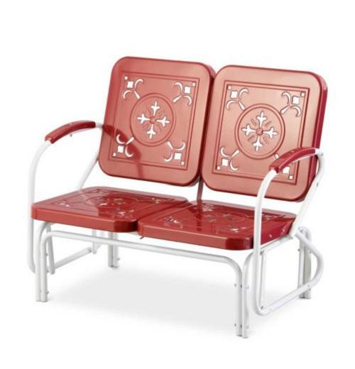 Retro Vintage Style Outdoor Metal Furniture Lawn Garden Deck Patio 3 Colors