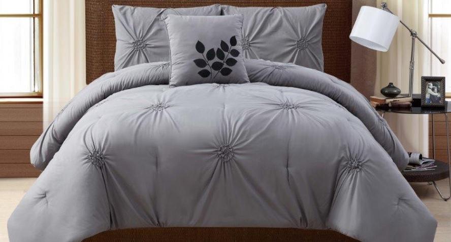 Grey Textured Bedding