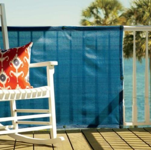 35x16 outdoor deck patio fence privacy fabric screen for Garden screening fabric