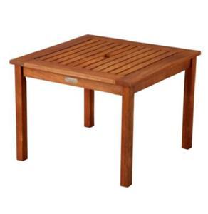 natural outdoor eucalyptus wood side end umbrella table