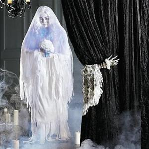 Life size animated halloween wedding ghost bride figure for Animated floating ghost decoration