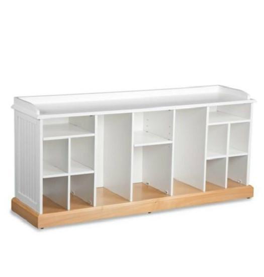 chestnut white or black shoe storage bench organizer