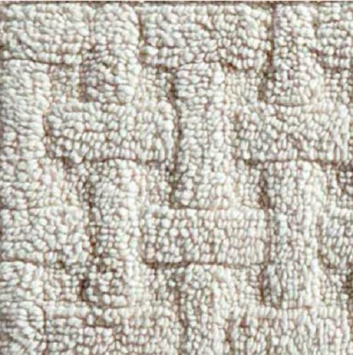 Washable Sisal Look Rugs: NON SLIP 100% Cotton Washable BASKETWEAVE 5'x5' SQUARE