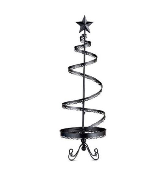 Quot metal christmas ornament display tree indoor holiday
