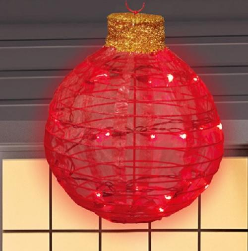 """Illuminated Led Ornaments: Indoor Outdoor LIGHTED 16"""" HANGING LED CHRISTMAS ORNAMENT"""
