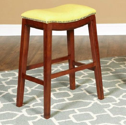 24 faux leather nailhead saddle style bar counter stools 4 fun colors - Saddle style counter stools ...