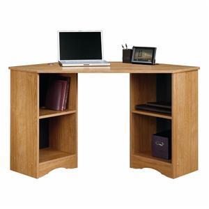 Light Oak Finish Space Saving Corner Student Computer Desk