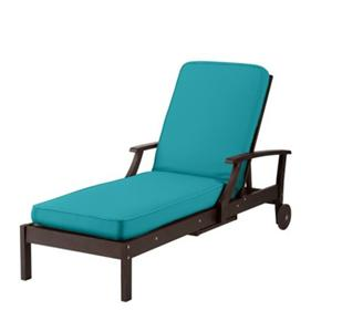 Premium box edge outdoor chaise lounge cushion caribbean for Box edge chaise cushion