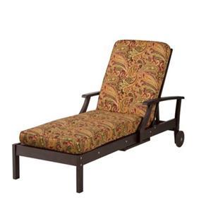Premium box edge outdoor chaise lounge cushion red green for Box edge chaise cushion