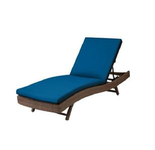 76 x23 1 2 outdoor sun lounger chaise cushion pacific for 23 w outdoor cushion for chaise