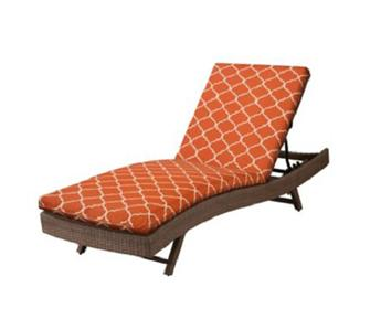 76 x23 1 2 outdoor sun lounger chaise cushion orange for 23 w outdoor cushion for chaise