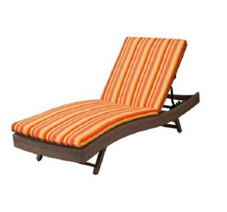 76 x23 1 2 outdoor sun lounger chaise cushion orange red for 23 w outdoor cushion for chaise