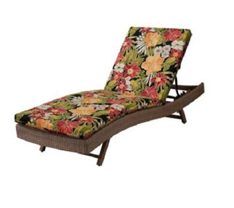 76 x23 1 2 outdoor sun lounger chaise cushion red yellow for 23 w outdoor cushion for chaise
