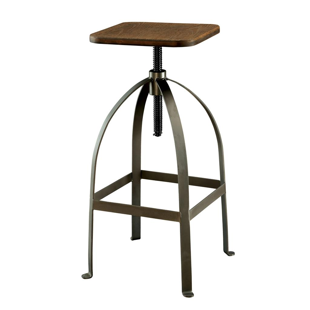 Modern Rustic Industrial Adjustable Bar Stool Counter