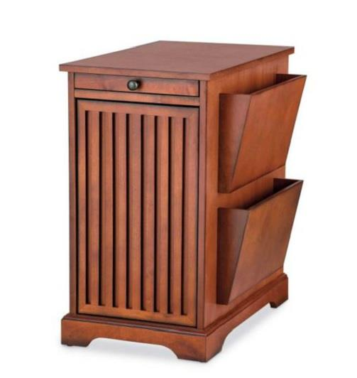Magazine Rack End Side Accent Storage Table Living Room Furniture 2 Finishes