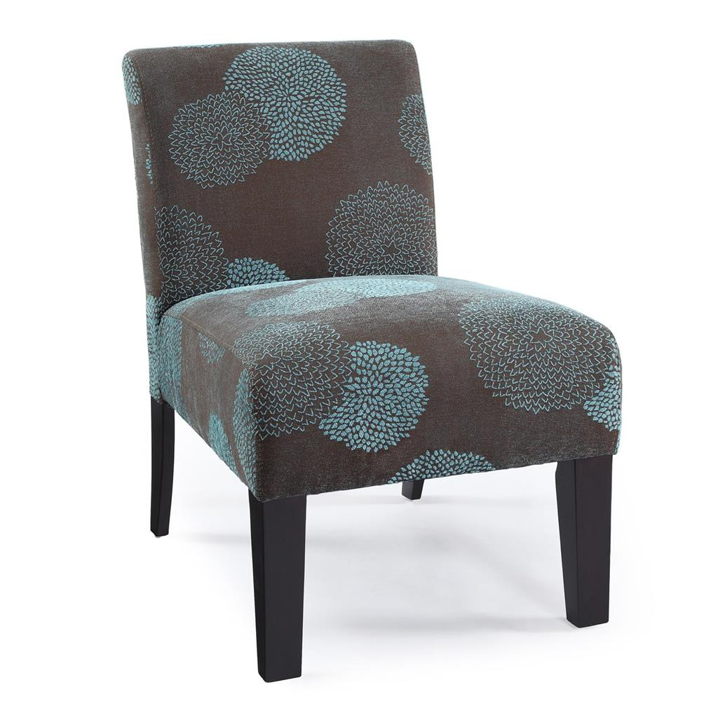 Modern contemporary armless upholstered floral accent for Upholstered living room chairs sale