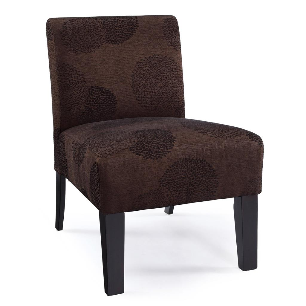 Modern contemporary armless upholstered floral accent for Contemporary furniture chairs