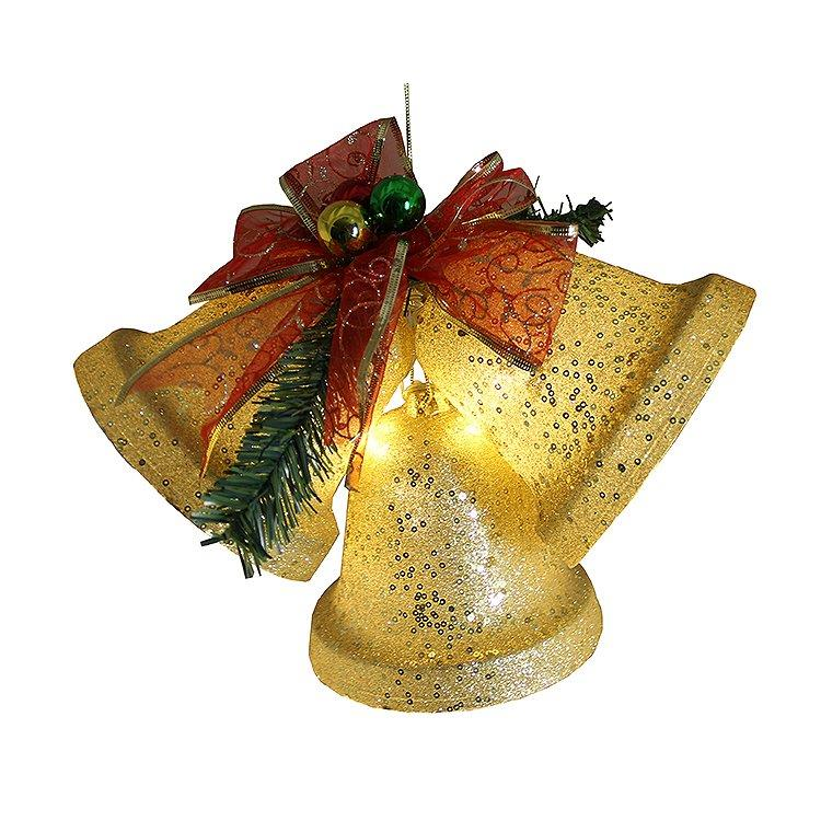 BATTERY OPERATED LIGHTED GLITTERING CHRISTMAS BELLS Pre