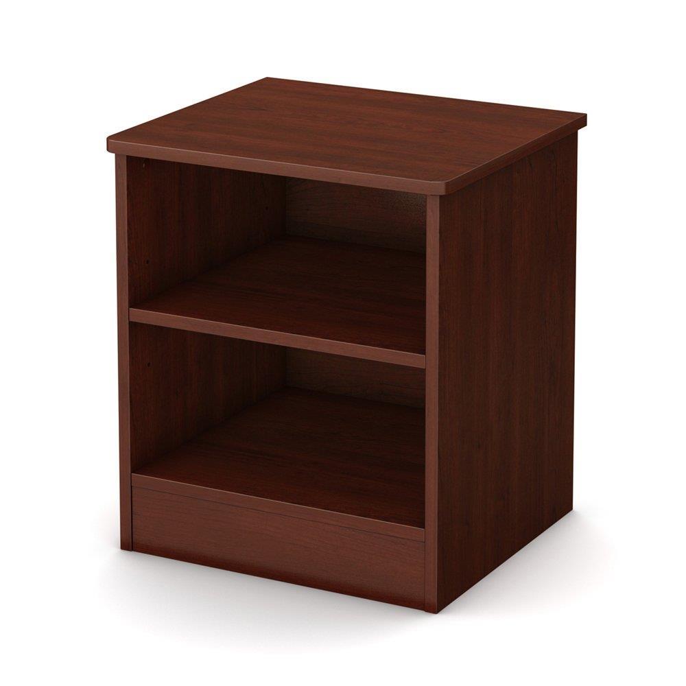nightstand w storage shelves end table cabinet modern bedroom furniture 4 colors ebay. Black Bedroom Furniture Sets. Home Design Ideas
