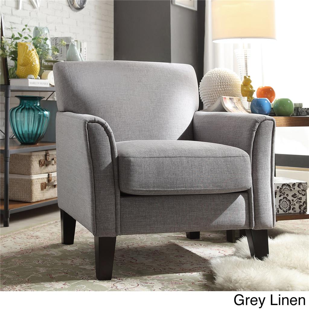 About modern living contemporary comfy upholstered arm chair accent