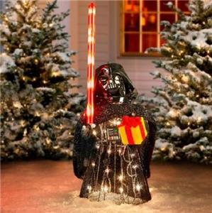 Sale set of 5 outdoor lighted star wars sculptures for Large outdoor christmas decorations for sale