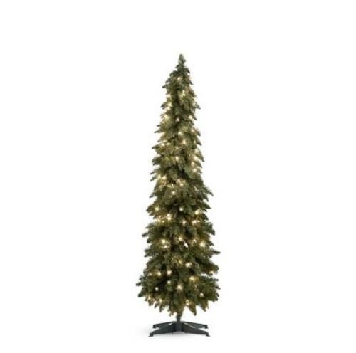 Lighted pre lit country alpine christmas tree indoor for Country living artificial christmas trees