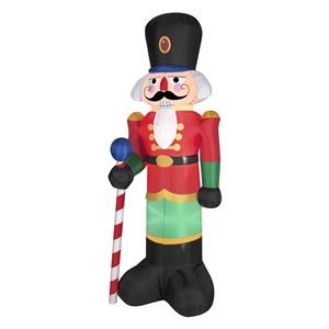 6 39 outdoor airblown inflatable nutcracker soldier for Airblown nutcracker holiday lawn decoration