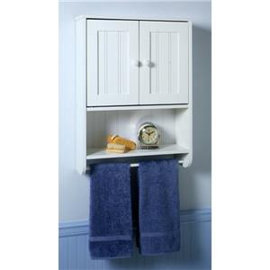 white finish bathroom wall mount linen storage cabinet cupboard towel