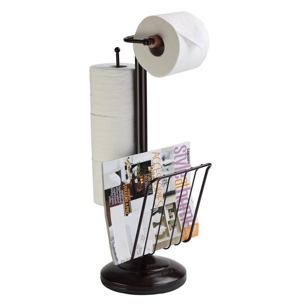 Free Standing Pedestal Toilet Paper Holder With Roll